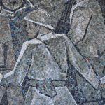 Particolare di un pannello in mosaico della Casa del Mutilato